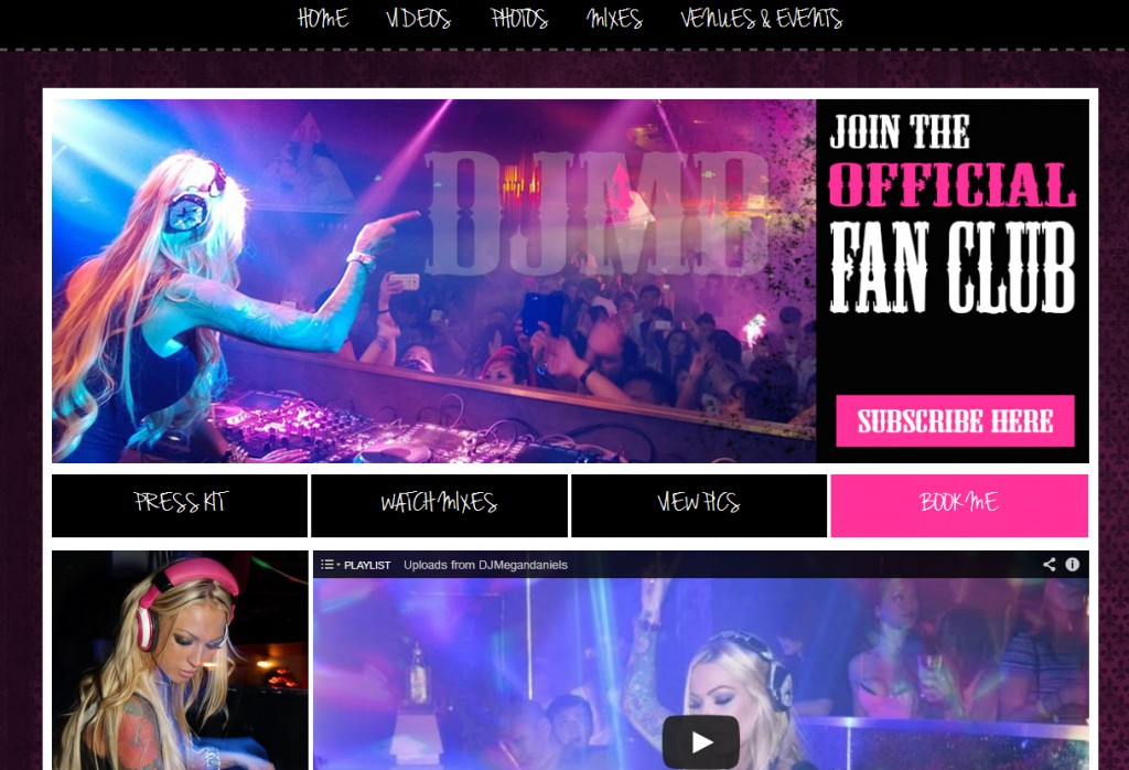 DJ Megan Daniels   Official Website   Events  Bookings  Pics   Videos