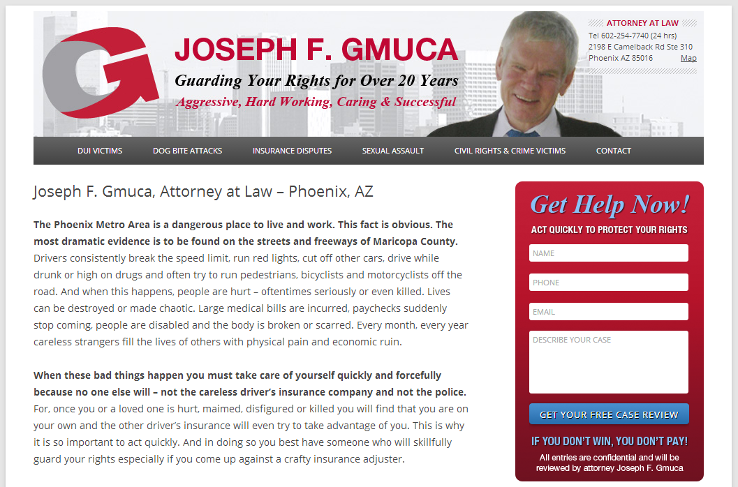 Joseph F Gmuca  Attorney at Law   Phoenix  AZ