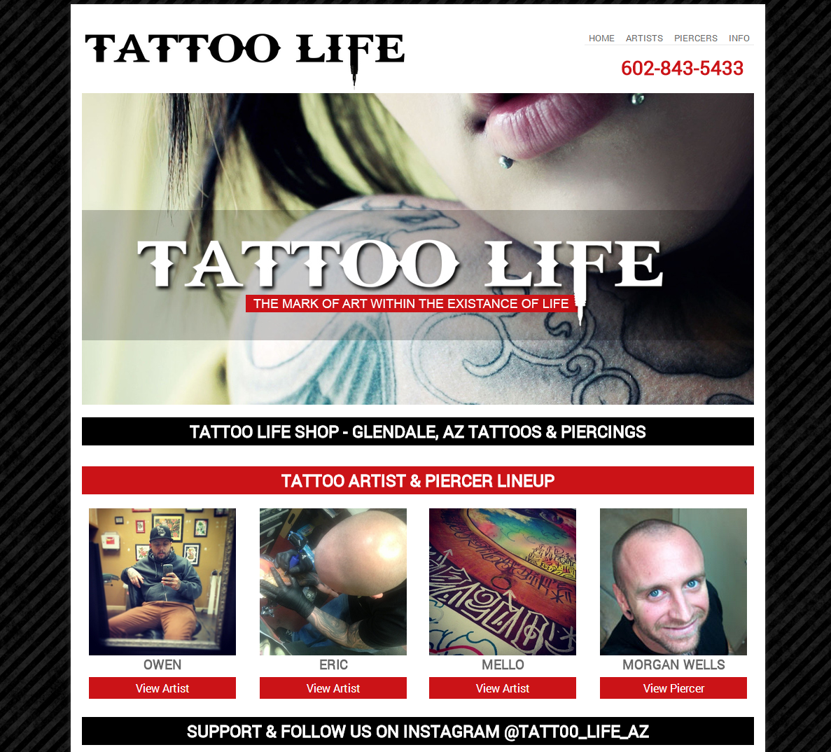 Tattoo Life Shop Glendale  AZ 85304